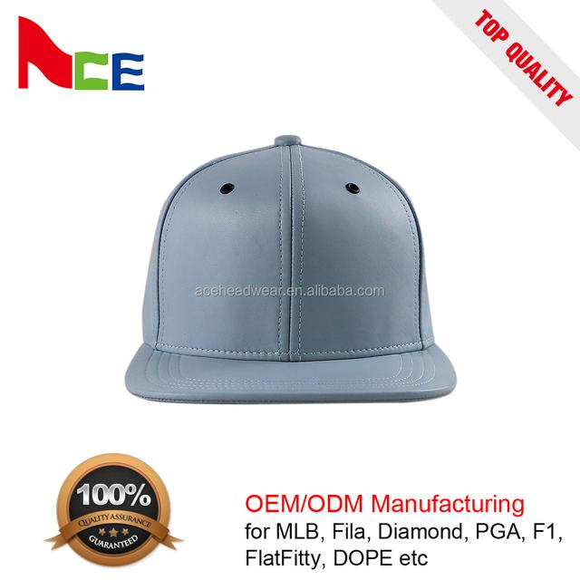 740051c4fc9 Unisex Hand-Made Wholesale PU Hat Sample Free Snapback Caps Custom Leather  strap