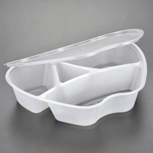 Disposable clear hard packaging Round fast take away container plastic box