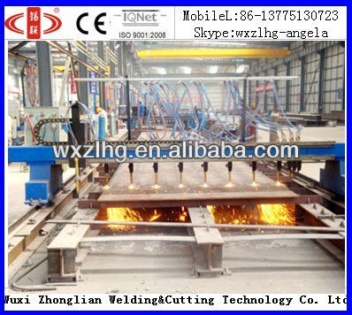 H beam welding line strip(straight) cutting machine