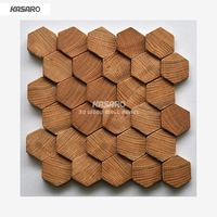 Hexagon Mosaic Wall Tile 3d Wood Panel Oak Mosaic