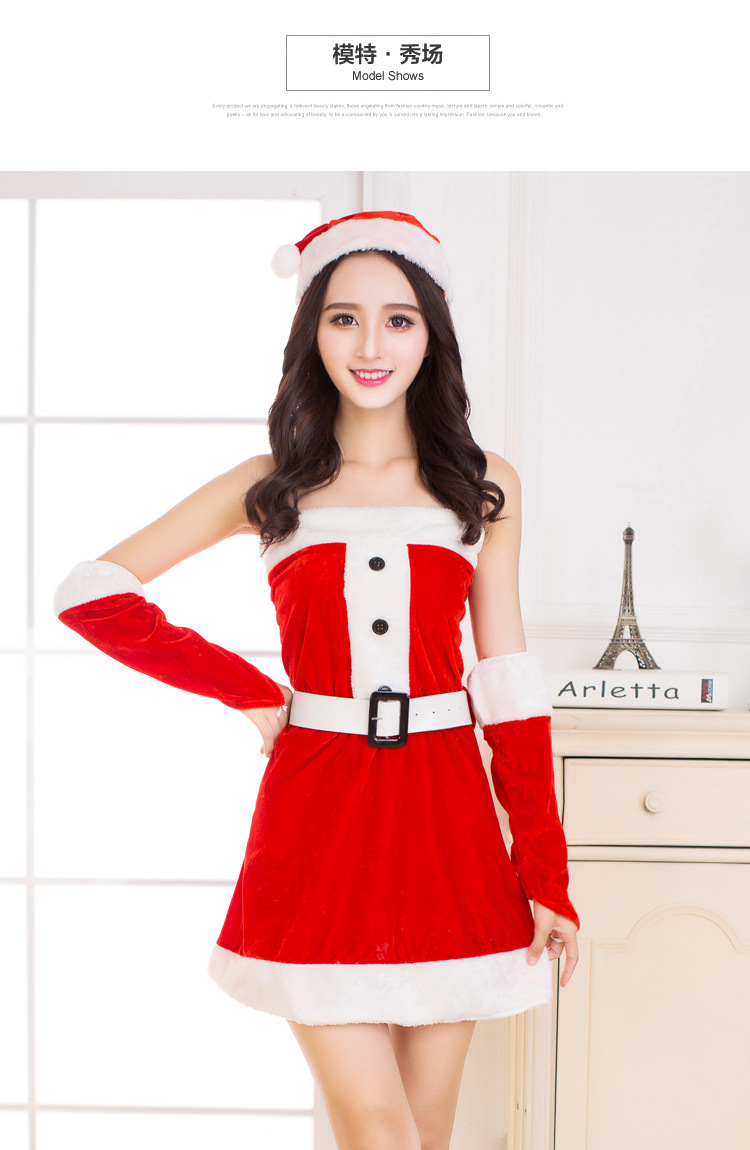 b8ff774431694 2017 new hot Wholesale Christmas Sexy Maid Dresses Mature Lingerie Maid red  Nightwear Sexy Night wear