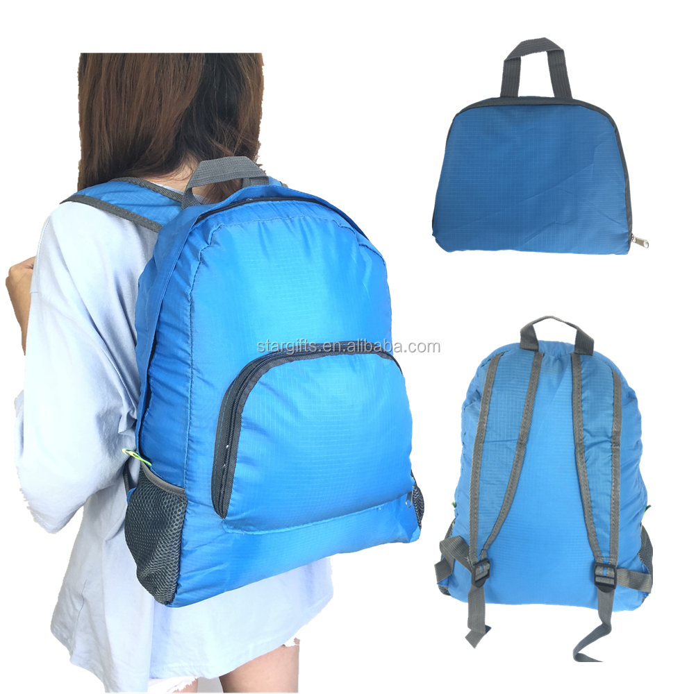 15 Inches Multicolour Sport Collapsible Waterproof Nylon Folding Travel Foldable Back Pack