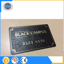 Good Quality China Supplier American Express Black Metal Business/Member Card