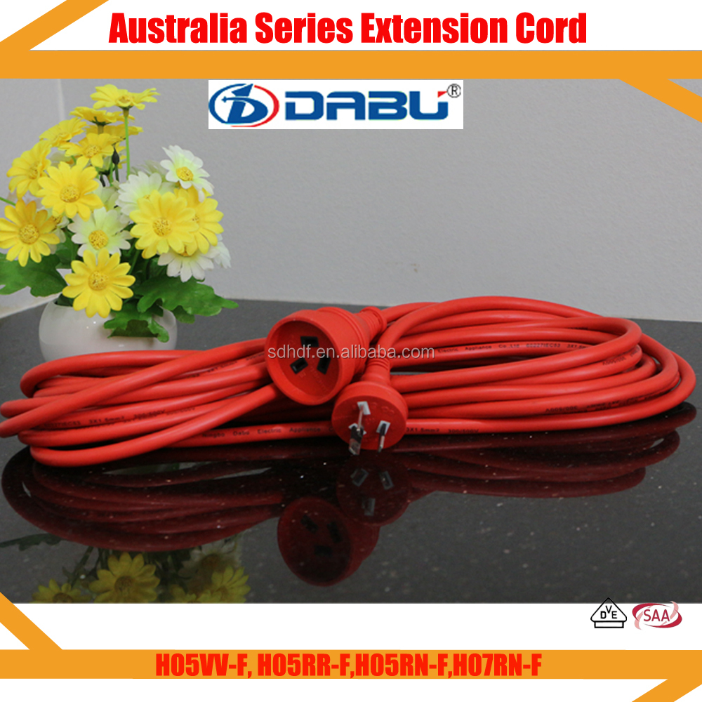 Rubber Outdoor Extension Cord Power Electrical Male Female Plug Lighted Ends Orange