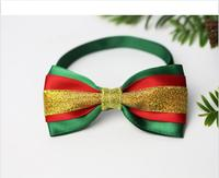 New Design Christmas Pet Bow Tie Dogs Pets Accessories Adjustable Cat Necklace Collar For Decorations