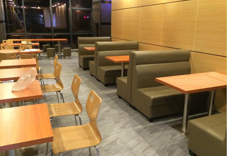 Restaurant furniture simple design leather cover
