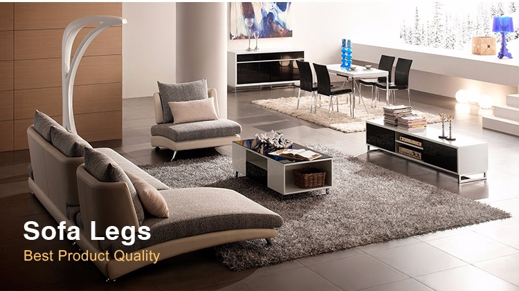 Hot Sale Contemporary Modern Metal Chrome Round Bed Feet Iron Furniture Settee Feet Circular Cylinder Column Sofa Feet