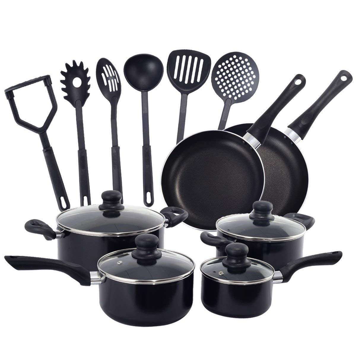 16 Piece Non Stick Cooking Kitchen Cookware Set Pots And Pans Kitchen Set New