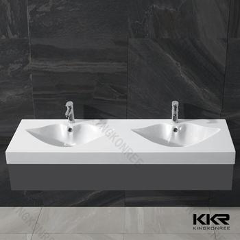 molded double bathroom sink countertop