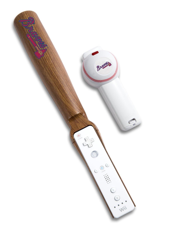 MLB Atlanta Braves Wii Baseball and Bat Controller