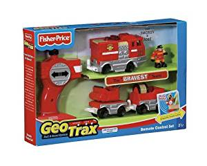 Fisher-Price GeoTrax Rail and Road System RC Set with Figure Assortment
