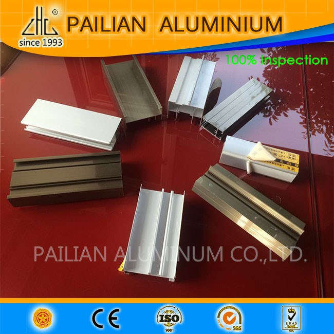 Colorful Electrophoresis anodized champagne  Aluminium Section for Outdoor furnitures