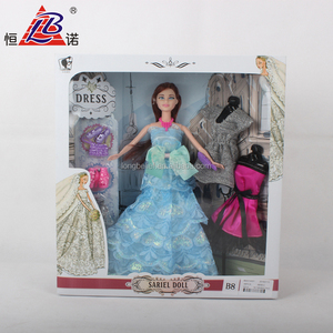 fashion baby girls interesting dress up wedding doll for play