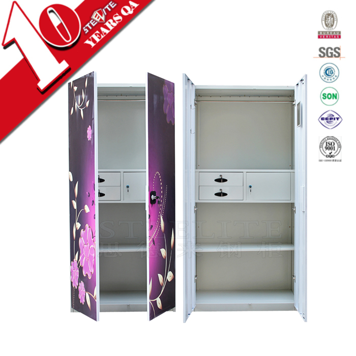 Self Assembly Steel Almirah Bedroom Furniture Self Assembly Steel