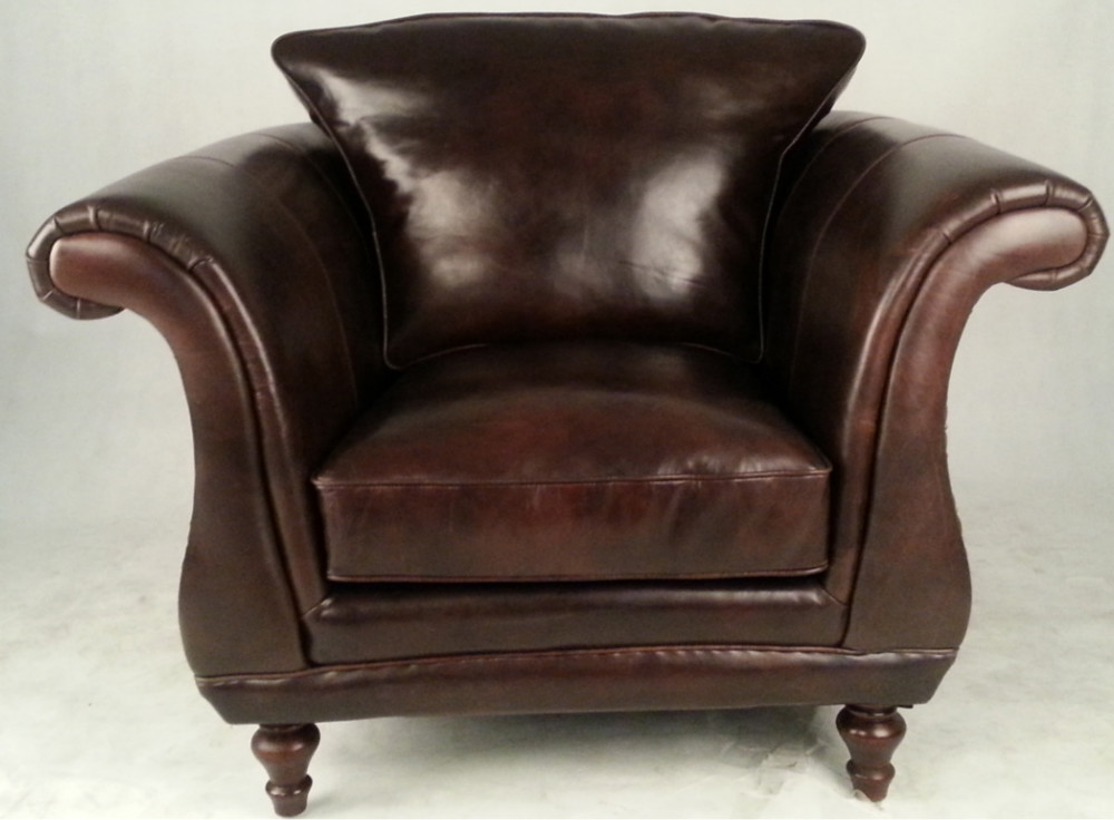 Single Seater Retro Vintage Leather Sofa Armchair