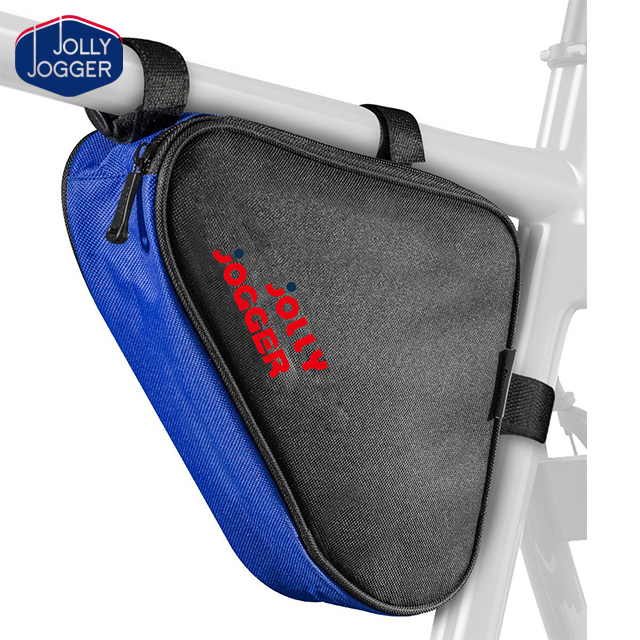 Bicycle Bike Storage Bag Triangle Saddle Frame Strap-On Pouch for Cycling
