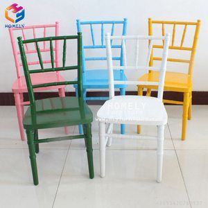 Wholesale Colorful Strong Professional Comfortable Wood Metal Resin Party Wedding Professional Stacking Kids Chiavari Chair