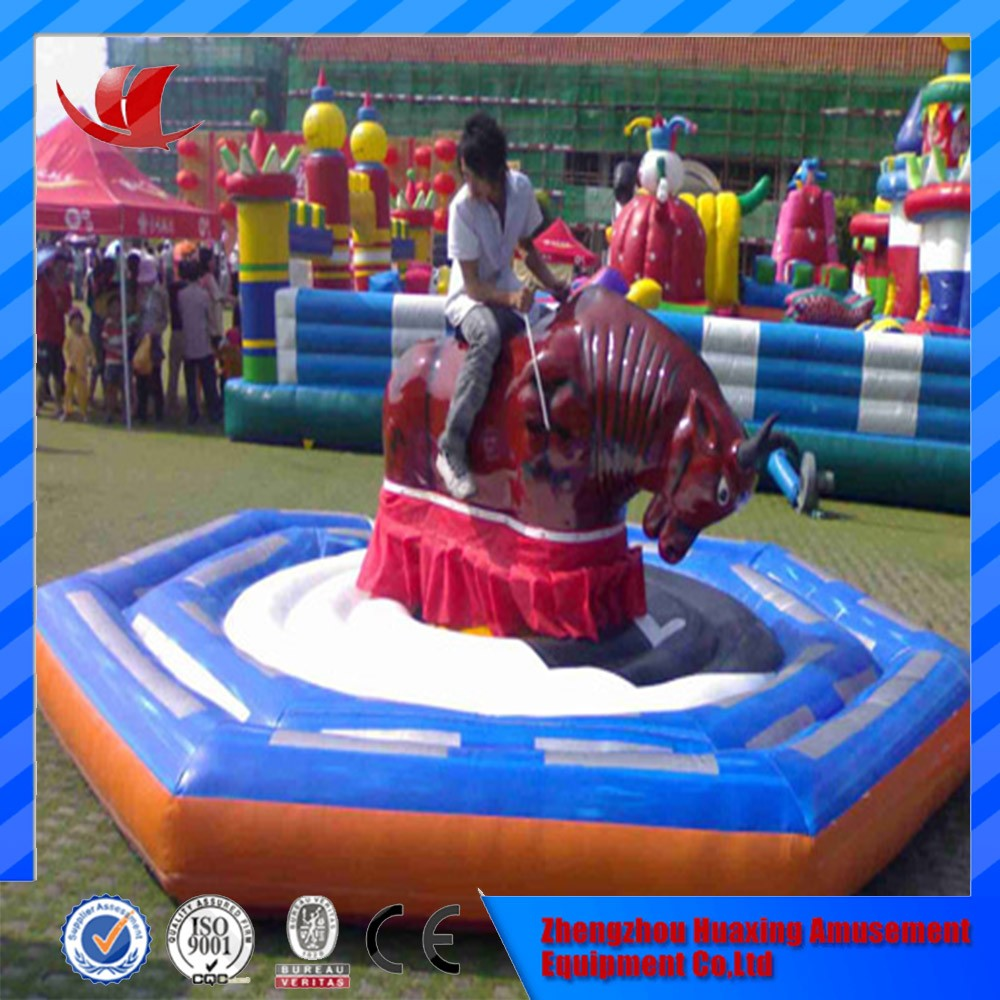 Inflatable mechanism bull rodeo simulator for sale,mechanical rodeo bull price