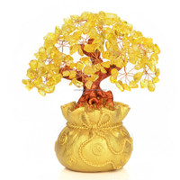 Gold crystal tree, Gold crystal money tree, Lucky money tree
