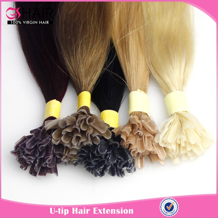 Fashion Virgin Human Hair U Tip Mix Color Individual Strand Hair