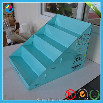 Table Top Cardboard Tiered Display Stands