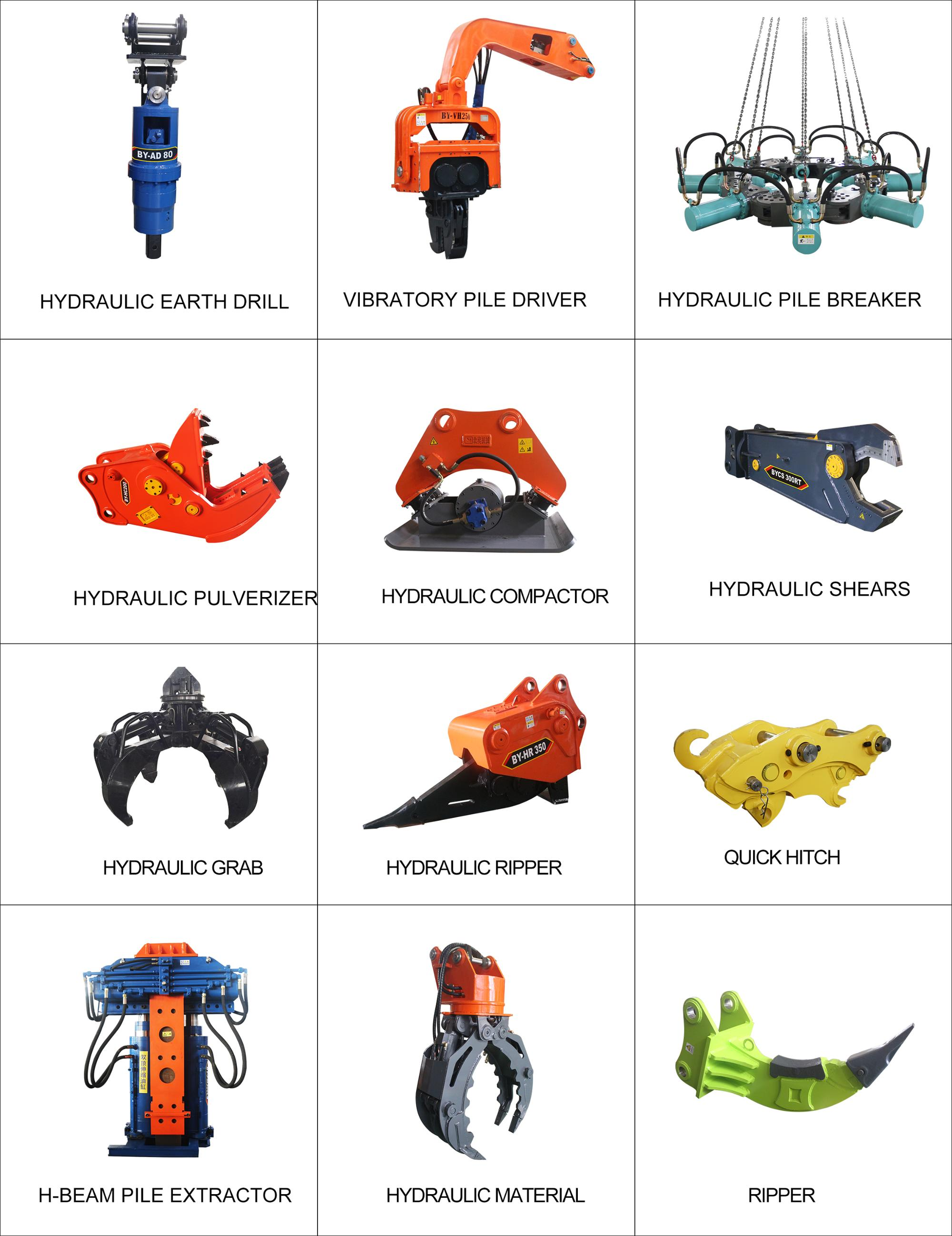 BEIYI produce for excavator use grapple and scrap grapple