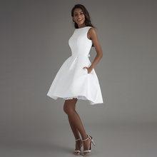 Короткое свадебное платье 2020 пляжные белые платья с открытой спиной vestido de noiva горячая Распродажа vestido De Novia Плайя свадебное платье(Китай)