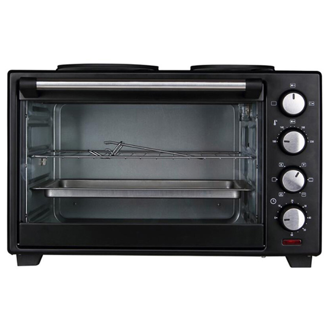 48L S/S Convection Household electric oven toaster with 2 hotplates