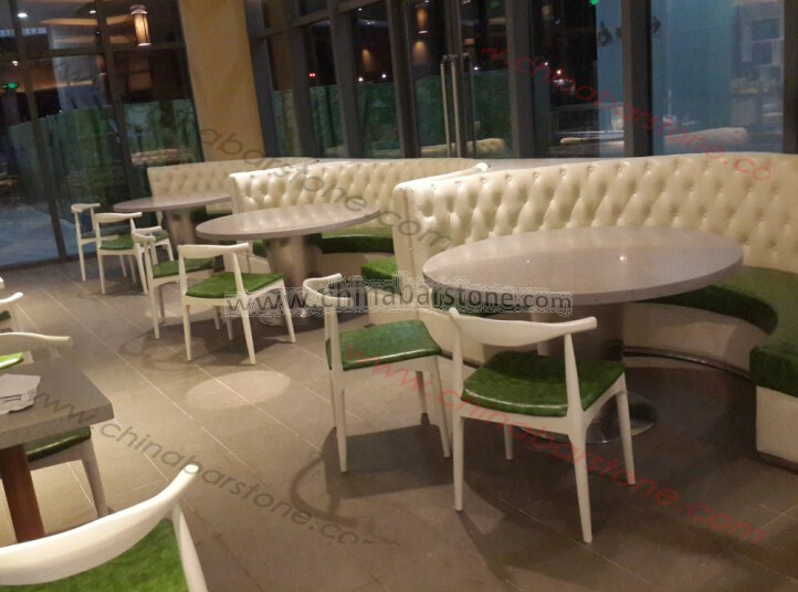 Half Round Restaurant Booth Sofa Comfortable Curved