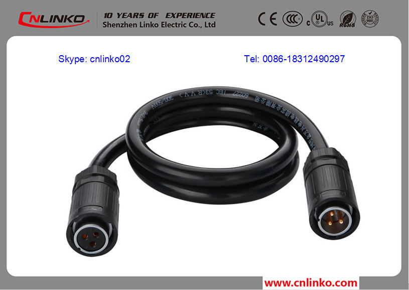 IP67 Electrical Cable Connectors Types Waterproof Connector Ip68 Caravan Sockets For Digital Appliance