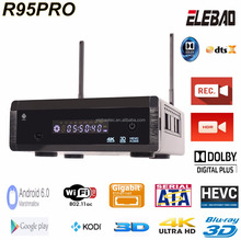 ELEBAO R95Pro Realtek1295 android tv box quad core xbmc jailbreak tv box android 6.0 3D Blu-ray hdd player for tiger iptv receiv