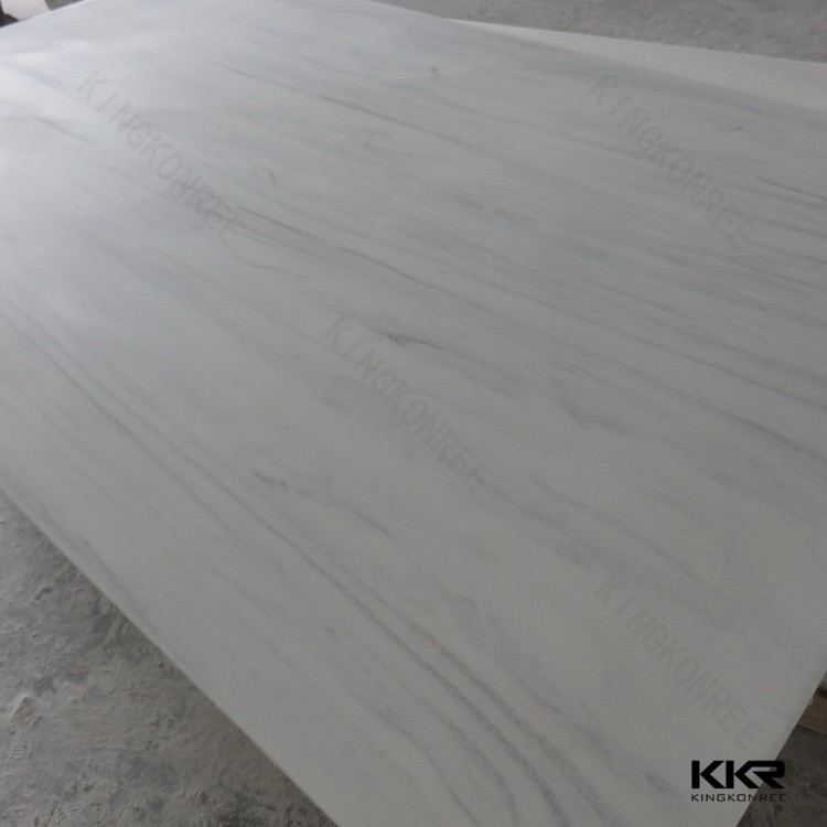 Pure White acrylic solid surface polyester resin slabs man made stone