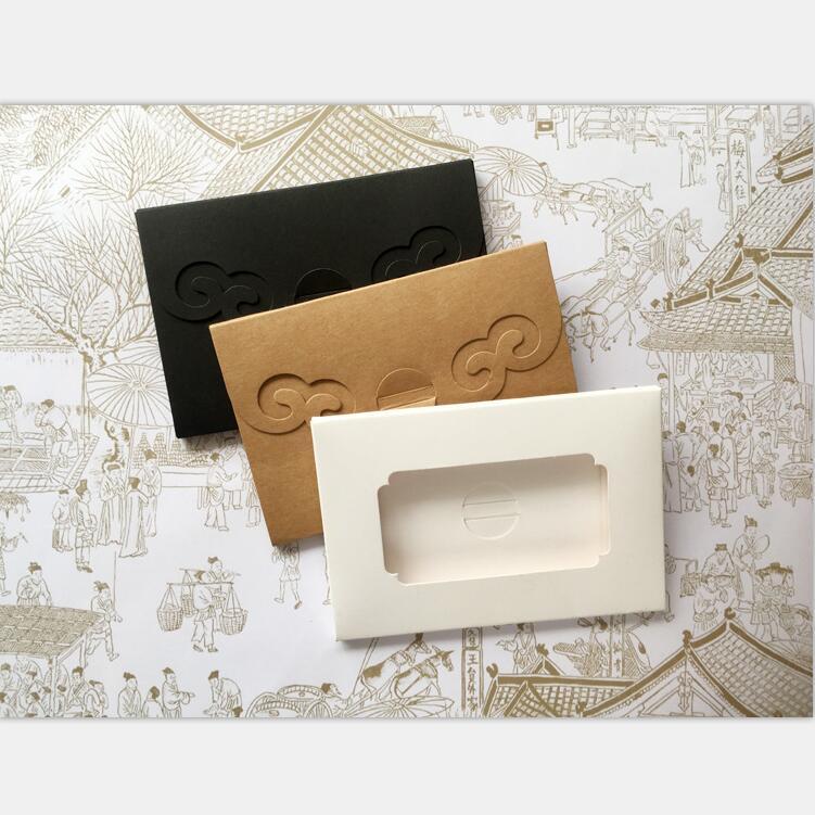 Vintage Brown White Black Kraft Blank Custom Size Paper Window