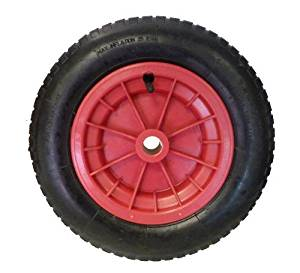 14 (3.25/3.00 - 8) Pneumatic Wheelbarrow Wheel (RED) Launching Trolley With 3.25/3.00 -8 Tyre by Keto Plastics