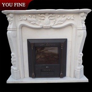 Best Selling Arch Marble Fireplace Mantel