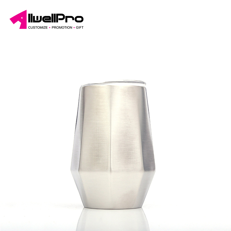 Hot-selling high-quality stainless steel vacuum flask Exquisite diamond-shaped eggshell cup portable outdoor car coffee cup