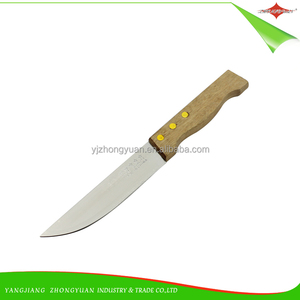 "ZY-B1059 6"" Stainless Steel Kitchen Knife Wood Handle 3CR13 Kitchen Knife"