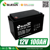 Bluesun Cycle life 500 times 6kw AGM12V 100ah battery backup system