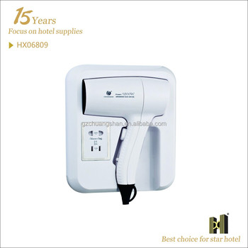 Guest Room Use with Plug wall mounted hair dryer