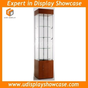 rotating glass display cabinet aluminum showcase