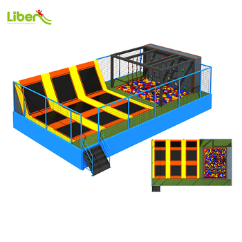 foam pit and climbing rock small indoor trampoline park new design indoor trampoline