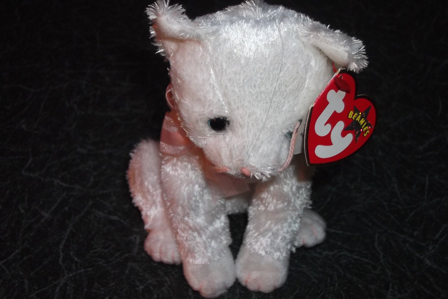 7f4790f8164 Get Quotations · Ty Beanie Babies Fancy - White Cat