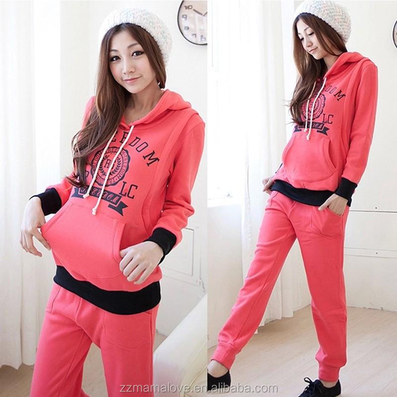 moda al por mayor caliente y trmica de manga larga de invierno ropa de maternidad embarazadas