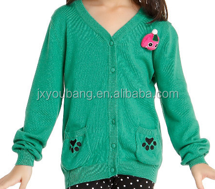 fashion style JACQUARD baby wool handmade sweater design for girl stripes  Knitted sweater