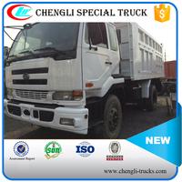 10 wheeler 6*4 type 20 ton loading 15cbm capcity used nissan dump truck