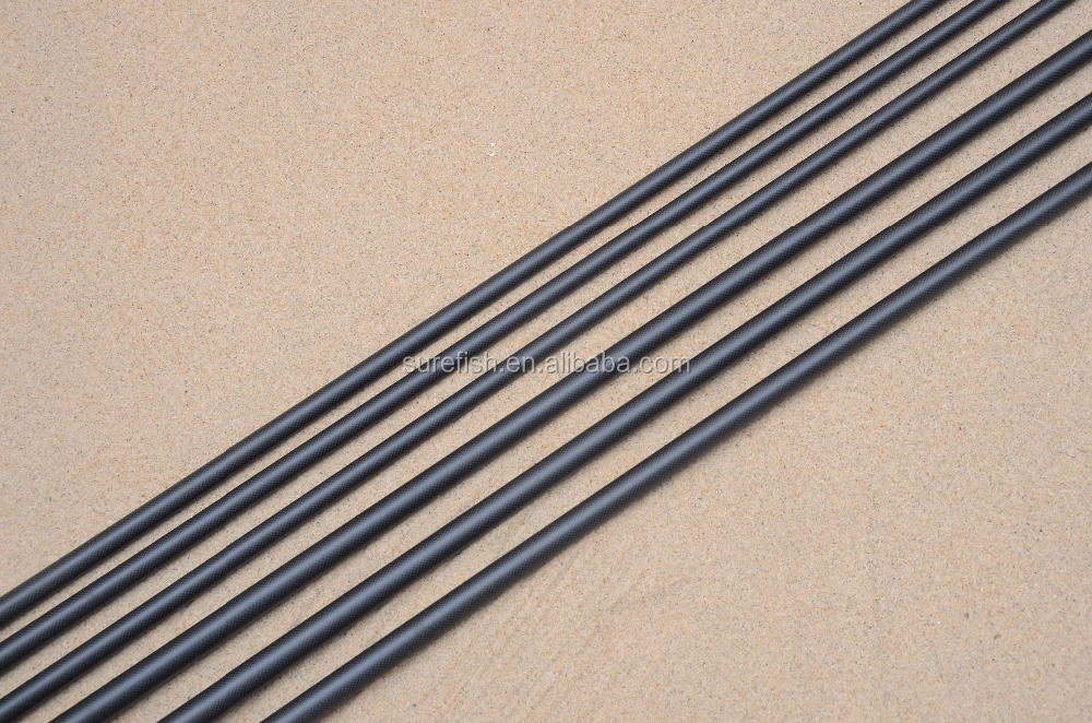 free shipping 1k woven carbon surf fishing rod blank