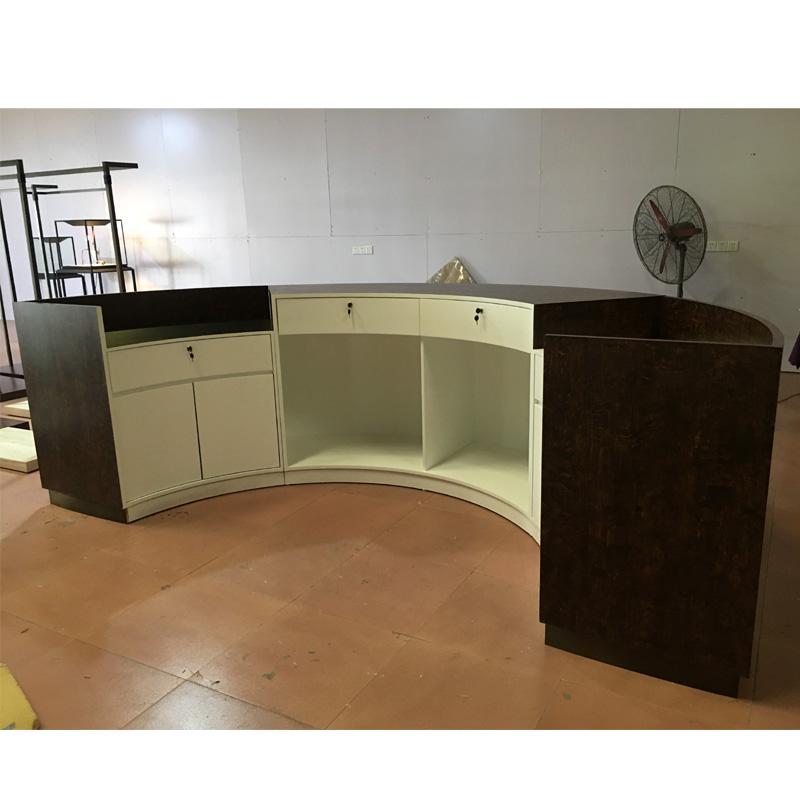 Custom Design 2 Person Seats Modern Salon Reception Desk
