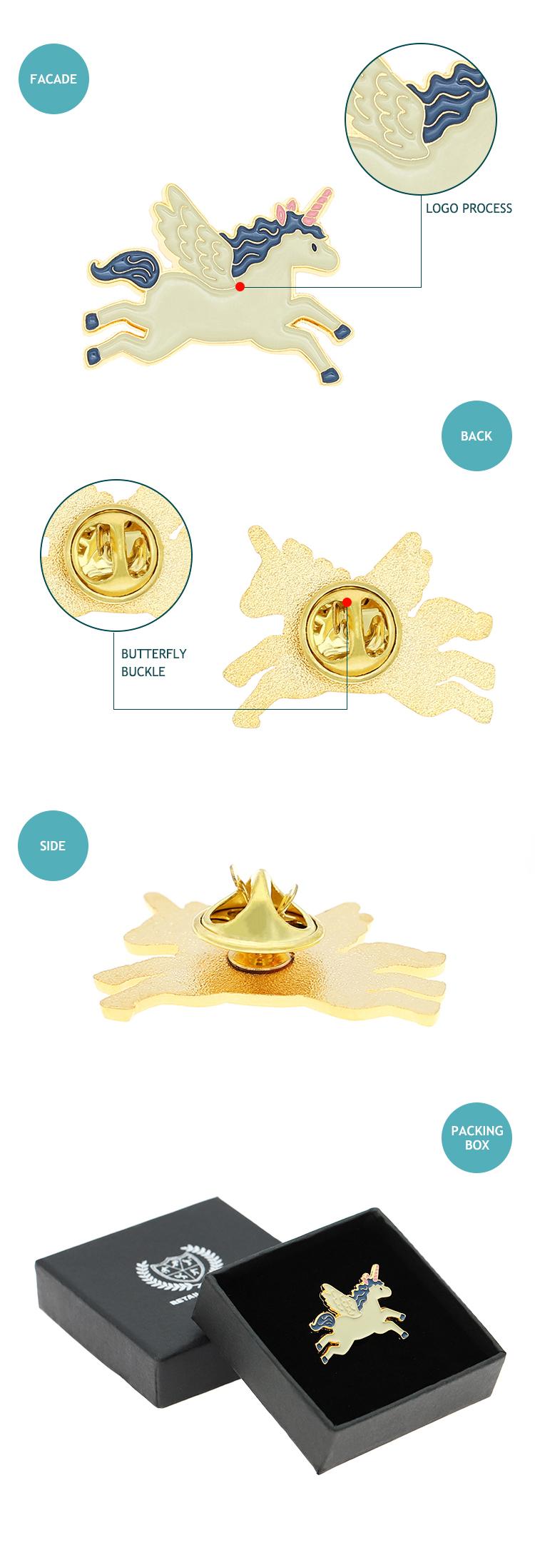 custom soft enamel horse shape gold lapel pins metal pin badge