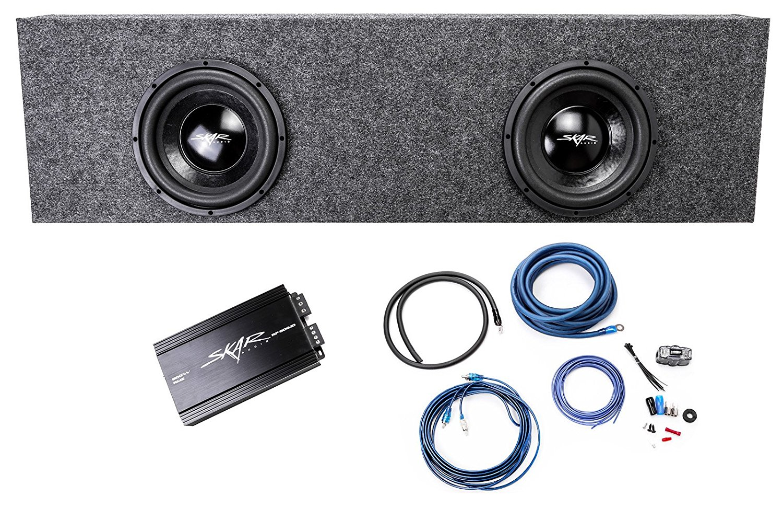 Buy Skar Audio Dual 10 800 Watt Complete Bass Package Includes Wiring Subwoofers Loaded In Heavy