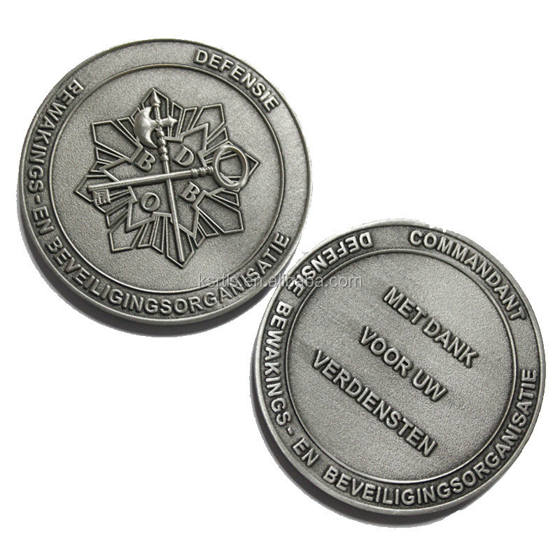 kunshan metal gifts manufacture military and custom antique nickel plated challenge coins